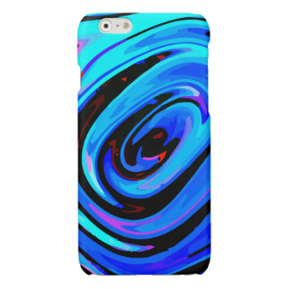 iPhone 6 Case Glossy Finish Feeling Blue Design Glossy iPhone 6 Case