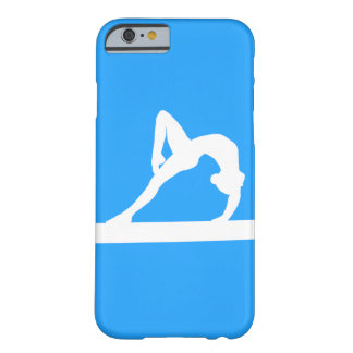 iPhone 6 case Gymnast Silhouette White on Blue