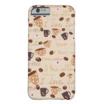 "iPhone 6 case ""I love coffee"""