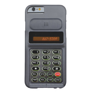 iPhone 6 case in the style of a mid 90s cell phone