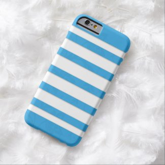 iPhone 6 Case - Líneas Azules Funda De iPhone 6 Barely There