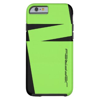 iPhone 6 Case Modern Green and Black Tough Rugged