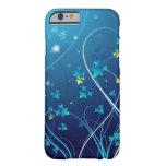 iPhone 6 case Ocean Blue Flowers case