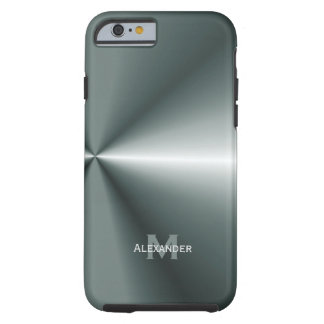 iPhone 6 case Personalized Metal Look Case