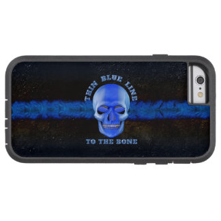 iPhone 6 Case Police Thin Blue Line to the Bone