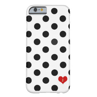 iPhone 6 case Polka Dot Black & White Dotted Heart