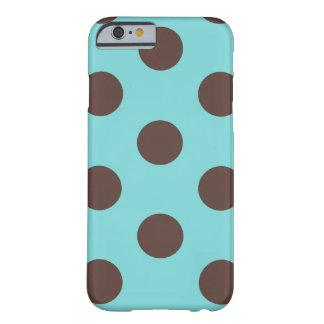 iPhone 6 Case Polka Dot Blue & Brown
