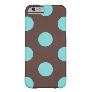 iPhone 6 Case : Polka Dot (Brown & Blue)