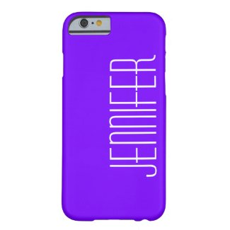 iPhone 6 Case, Purple and White, Personalized
