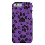 iPhone 6 case, Purple paw prints, pet, animal