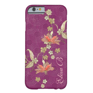 iPhone 6 Case Purple with Flowers