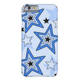 iPhone 6 Case Shades of Blue Star Design