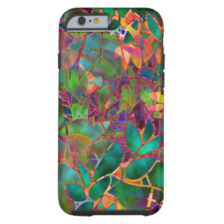 iPhone 6 case Shell Floral Abstract Stained Glass