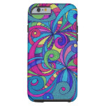 iPhone 6 case Shell Floral Doodle Drawing