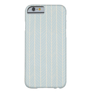 iPhone 6 case - Soft blue and yellow chevron