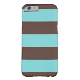 iPhone 6 Case Striped Blue & Brown