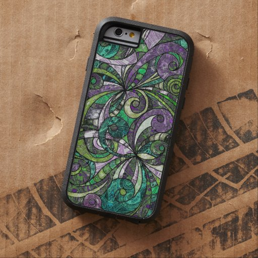 iPhone 6 Case Tough Drawing Floral Zentangle