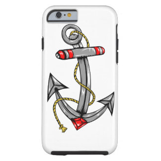 iPhone 6 Case Tough with Navy Anchor Tattoo
