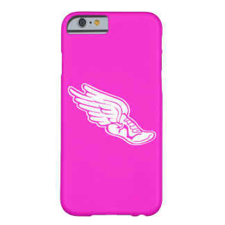 iPhone 6 case Track Logo White on Pink
