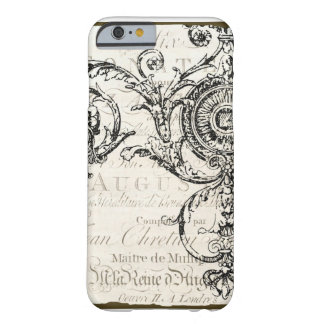 iPhone 6 case Vintage Ephemera French Script