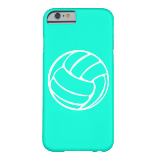 iPhone 6 case Volleyball White on Turquoise