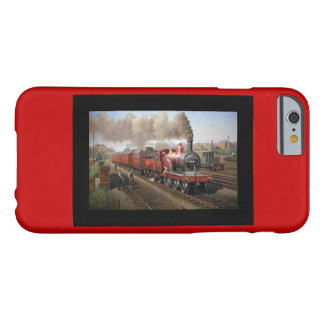 Iphone 6 case with a steam engine and train