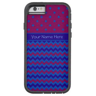 iPhone 6 case Xtreme Case Purple Chevrons