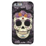iPhone 6 del cráneo y de los rosas del vintage
