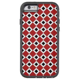 iPhone 6 del modelo del diamante rojo, blanco, Funda Para iPhone 6 Tough Xtreme