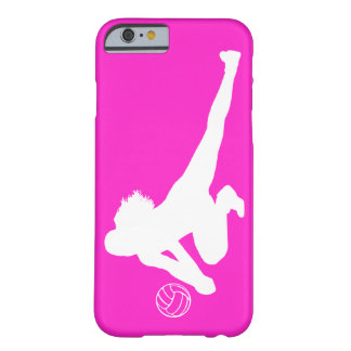 iPhone 6 Dig Silhouette White on Pink Barely There iPhone 6 Case