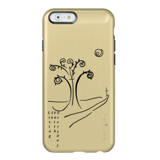 iPhone 6 Feather® Shine, Gold inspirational case