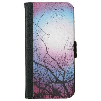 Iphone 6 flip case/wallet funky purple iPhone 6/6s wallet case