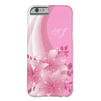 iPhone 6 florales rosados bonitos del caso Funda De iPhone 6 Barely There