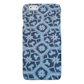 iPhone 6 Glossy Case with Crochet Afghan Design