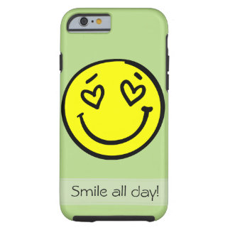 iPhone 6 hoesje with smiley face Tough iPhone 6 Case