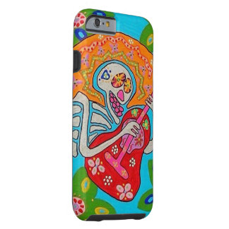 iphone 6 Mariachi Serenade Day Dead Skeleton II Tough iPhone 6 Case