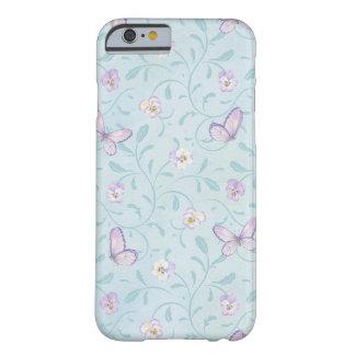 iPhone 6 mariposas florales de la lavanda del caso Funda De iPhone 6 Slim