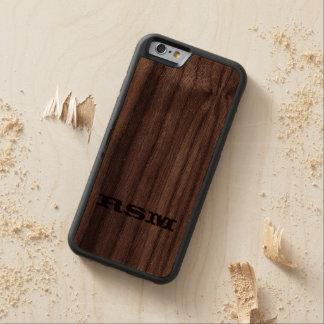 iphone 6 monogram Western wood Walnut iPhone 6 Bumper