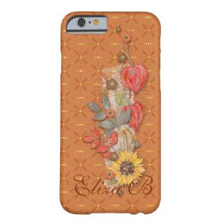 iPhone 6 Orange Pumpkin Autumn Flowers Monogram iPhone 6 Case