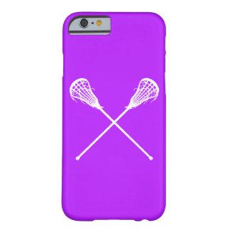 iPhone 6 palillos de LaCrosse del caso púrpuras Funda Para iPhone 6 Barely There