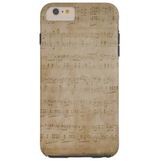 iPhone 6 Plus - Case - Antique Music Paper Tough iPhone 6 Plus Case