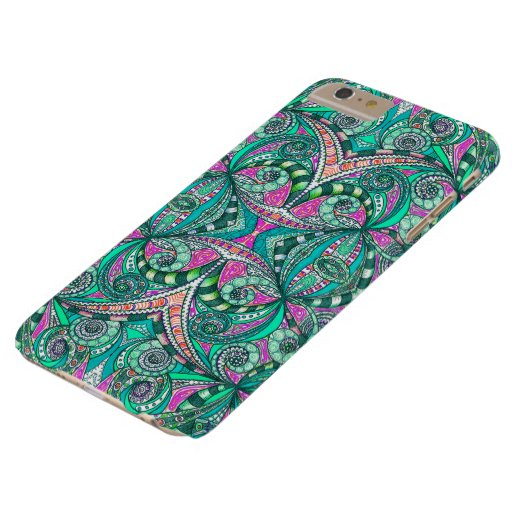 iPhone 6 Plus Case Barely Drawing Floral Zentangle
