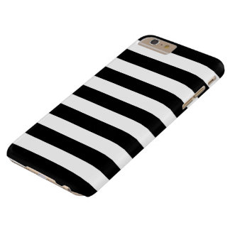 iPhone 6 Plus Case - Black and White Bold Stripes