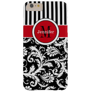 iPhone 6 Plus Case | Damask | Stripes | Red