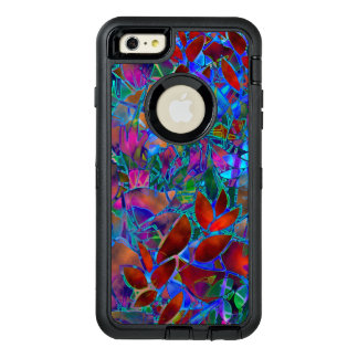 iPhone 6 Plus Case Floral Abstract Stained Glass