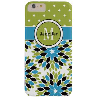 iPhone 6 Plus Case | Floral, Dots | Blue, Green 2