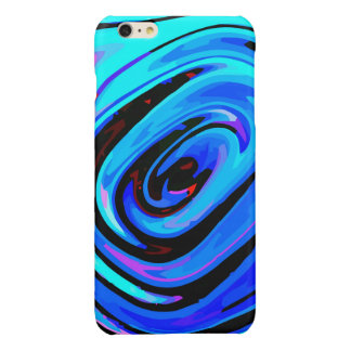 iPhone 6 Plus Case Glossy Finish Feeling Blue Glossy iPhone 6 Plus Case