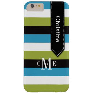 iPhone 6 Plus Case | Stripes | Blue, Green, Black