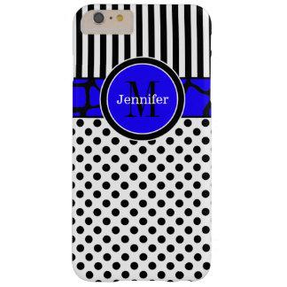 iPhone 6 Plus Case | Stripes, Dots | Blue