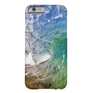iPhone 6 sombras del caso de foto azul de la ola Funda Para iPhone 6 Barely There